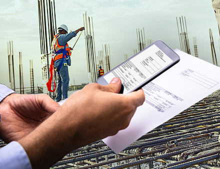construction onsite dockets invoice matching